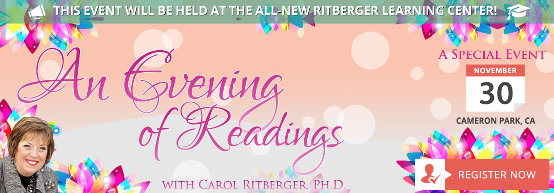 Experience an Evening of Readings with Carol Ritberger, Ph.D.